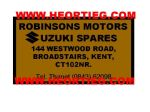Robinsons Motors Broadstairs Dealer Decals Transfers  DDQ9